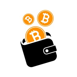 bitcoin wallet icon sign  digital currency.