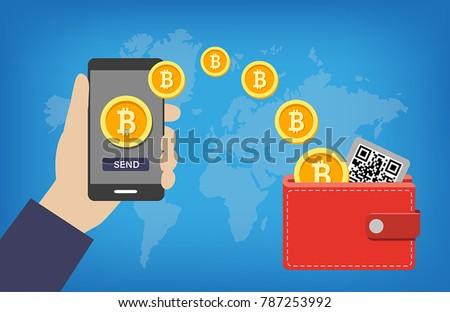 Bitcoin Wallet Transaction - sending bitcoins into online digital wallet