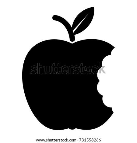 Bite apple icon. Simple illustration of bite apple vector icon for web