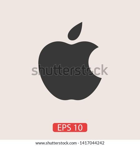 bitten apple apple vector icon