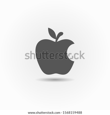 bitten apple apple vector icon