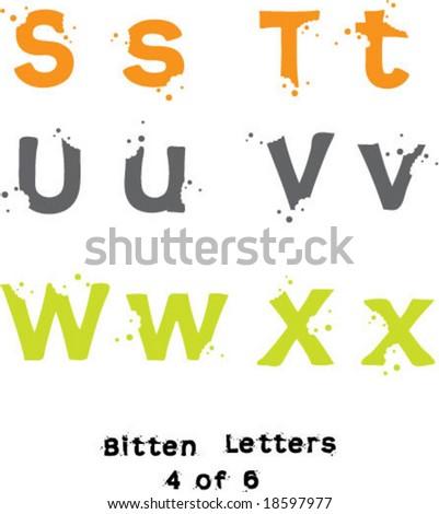 Bitten Letters 4 of 6