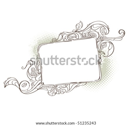 Bizarre background for your text. Vector illustration.