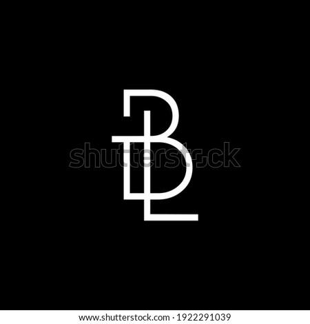 BL,LB letter logo design on luxury background. BL,LB monogram initials letter logo concept. LB,BL icon design. BL,LB elegant and Professional white color letter icon on black background. Stock fotó ©