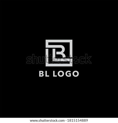 BL logo design. Vector illustration. Stock fotó ©