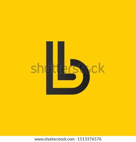 BL or B L letter alphabet logo design in vector format. Stock fotó ©