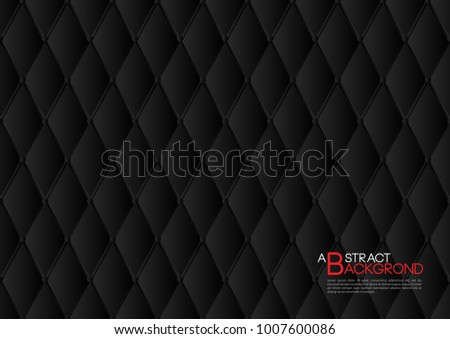 black abstract background vector illustration cover template layout business flyer leather texture luxury