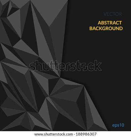 black abstract geometric