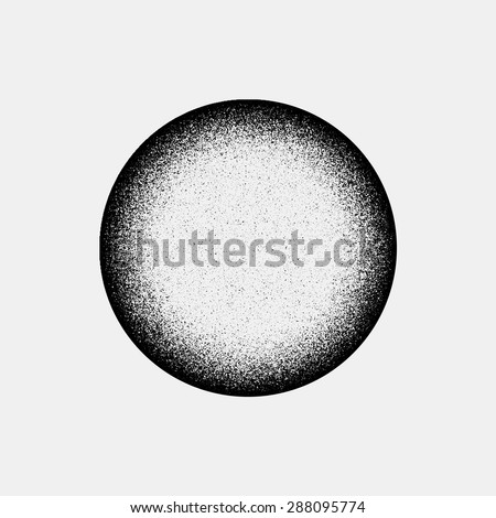Royalty-free Black abstract geometric shape, ellipse, oval