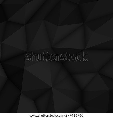 black abstract low poly
