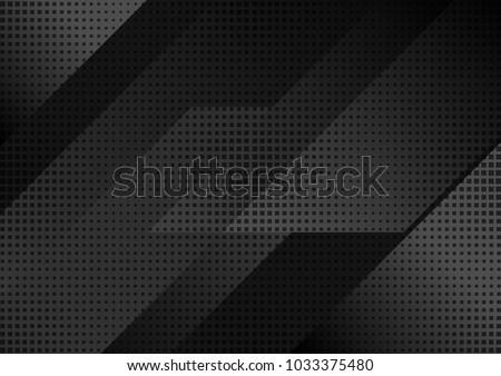 black abstract tech geometric