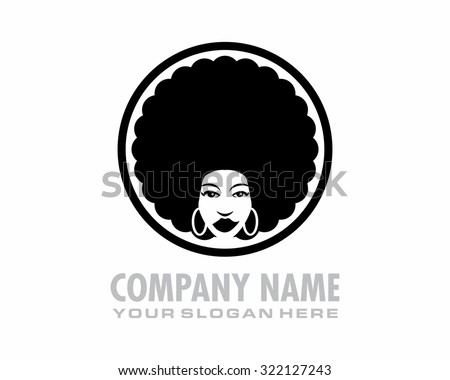 black afro woman hair style
