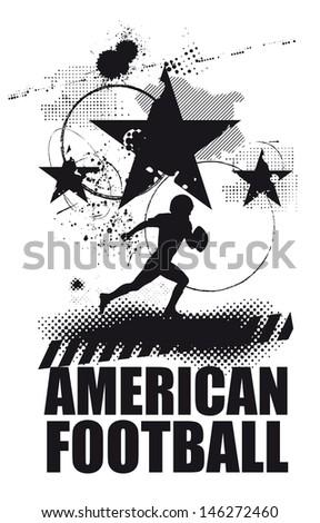 black american football scene