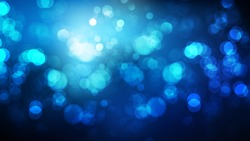 Black and Blue Bokeh Lights Background