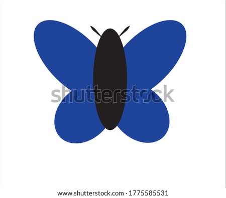 black and blue butterfly a