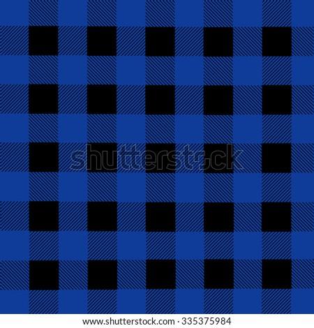 black and blue lumberjack plaid