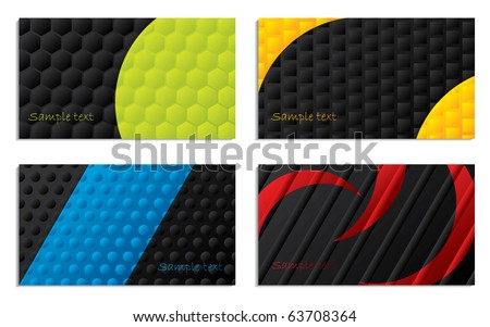 Black and colored business cards