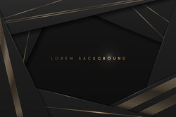 Black and gold abstract frame background