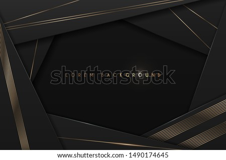black and gold abstract frame