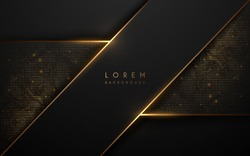 Black and gold abstract luxury background
