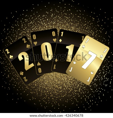 Black and gold cards 2017 full vector #426340678