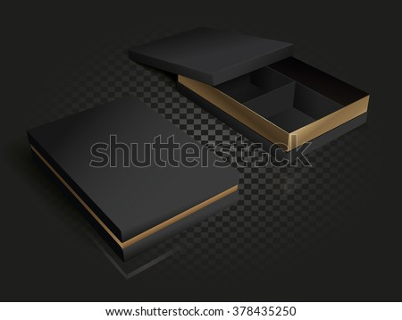 black and gold luxury packaging