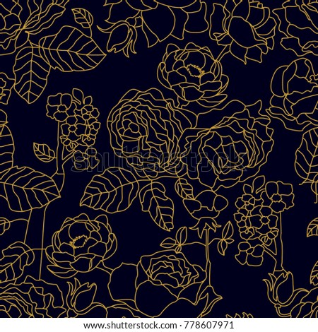 black and golden linear pattern
