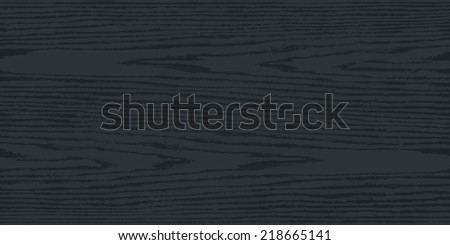 Black and gray color natural wood texture background on horizontal format in flat style. Realistic plank with annual years circles. This vector illustration design elements saved in 8 eps