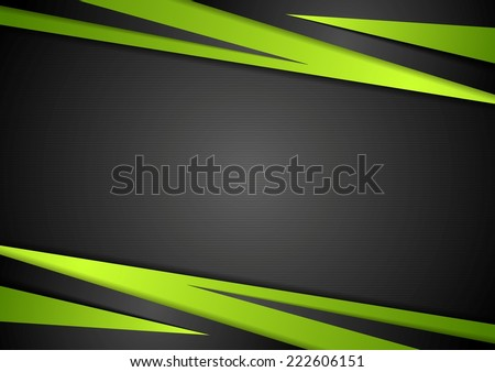 black and green abstract design