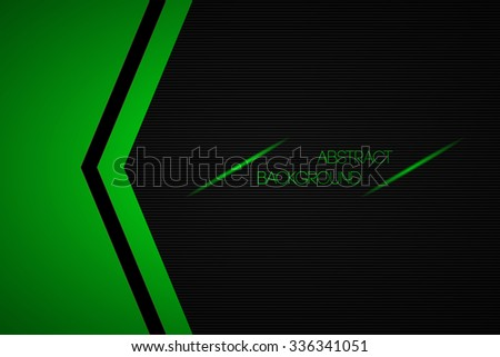 black and green abstract vector