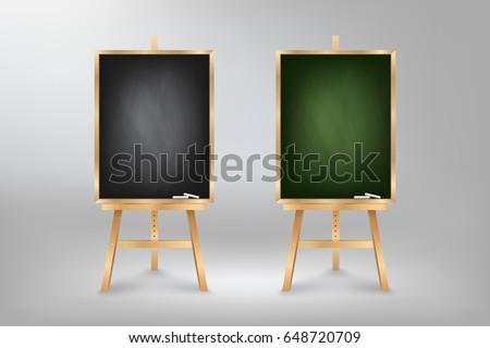 black and green blackboard on...