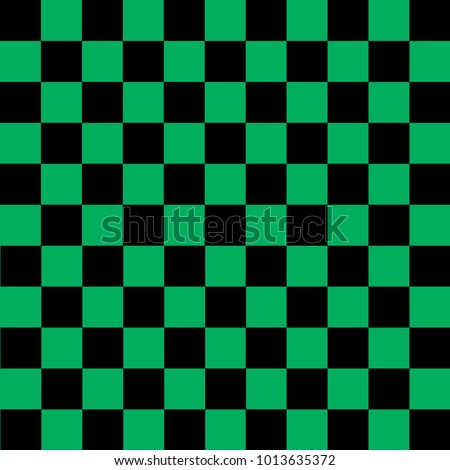 black and green checkered