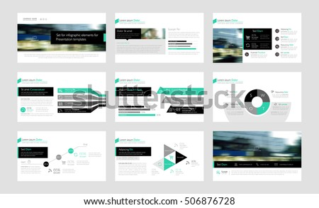 Black and green elements for infographics on a white background. Presentation templates. Use in presentation, flyer, corporate report, marketing, advertising, annual report
