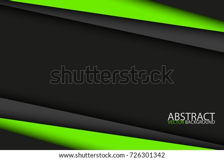 black and green modern material