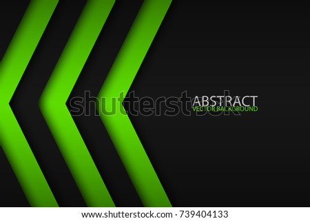black and green overlayed
