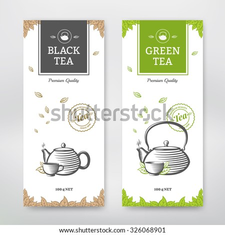 black and green tea design