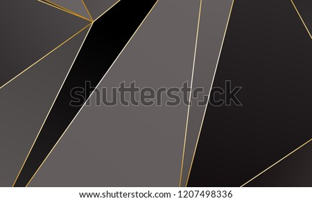 stock-vector-black-and-grey-premium-background-with-luxury-polygonal-pattern-and-gold-triangle-lines-low-poly