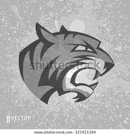 black and grey tiger head logo