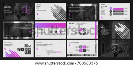 Black and Lilac elements on a white background. This template is the best as a business presentation, corporate report, used in marketing and advertising, the annual report, flyer and banner