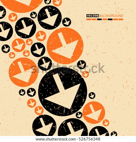 black and orange arrows on...