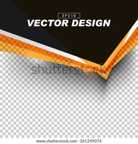 stock-vector-black-and-orange-banner-design-on-gray-checkered-background-eps-vector