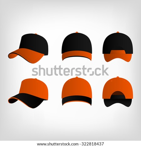 black and orange baseball cap