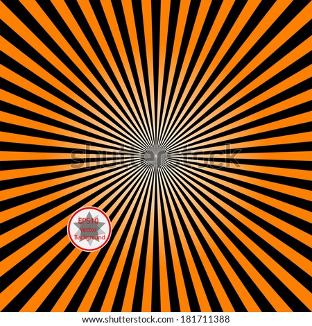 black and orange colour ray abstract background