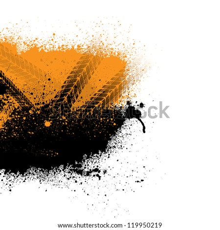 black and orange silhouette of