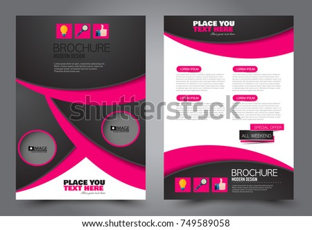 flyer brochure magazine cover template design for education