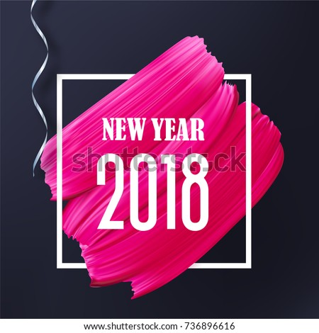 black and pink new year 2018
