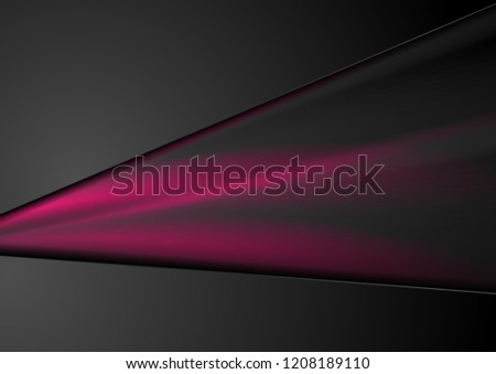 Black and purple abstract smooth stripes background. Vector design