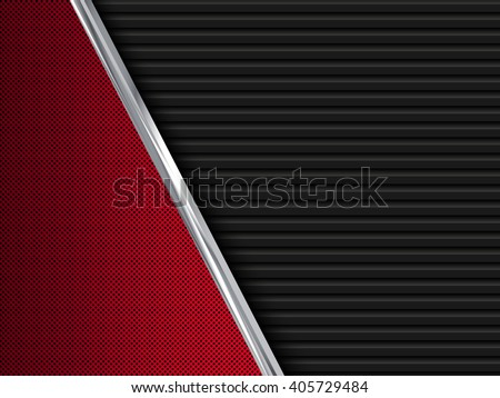 black and red  metal