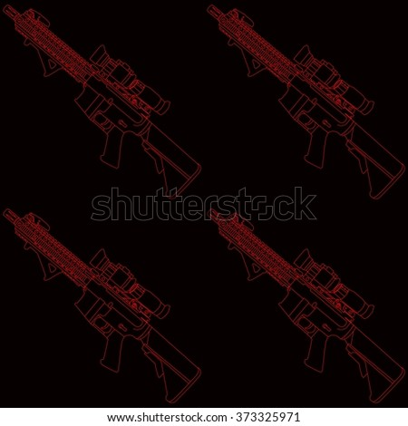 black and red rifle seamless