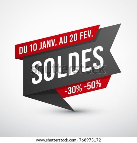 Black and red sale banner #768975172